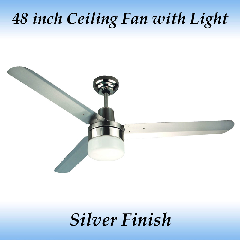 Fias sparky 3 blade 48 inch stainless steel blade ceiling fan with sparky 48 inch 1200mm 3 blade 304 stainless steel ceiling fan with light aloadofball Images
