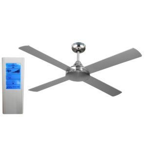 Revolve 48'' Ceiling Fan Brushed Chrome + WH Touch Pad Remote - REV48B - TWHRem