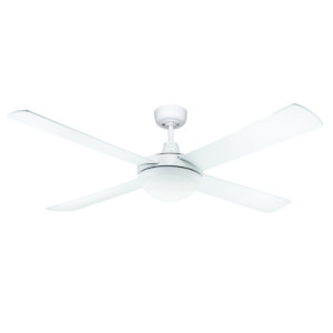 Genesis 52'' White Ceiling Fan 2xE27 Light - GEN52WL