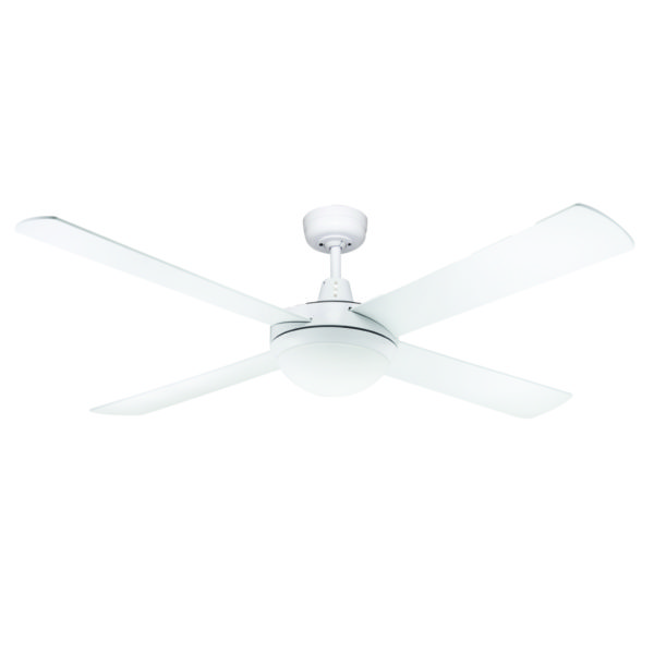 Genesis 52 Inch 1320mm White Ceiling Fan With Light Lighting Empire