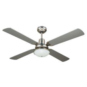 Ramo 4 Blade Silver Ceiling Fan