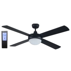 Rotor 52'' LED Light Black Ceiling Fan + BL Touch Pad Remote - ROTOR52BLK - TBLRem