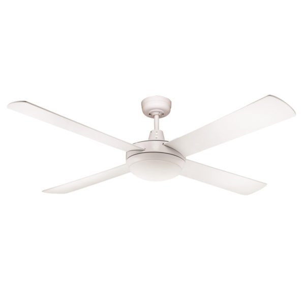 Fias Rotor 52 Inch Led Ceiling Fan White With 24w Led Light Black Touch Pad Remote Lighting Empire