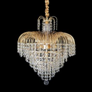 Waterfall 490 Gold Chandelier - CRPWAT05490GD
