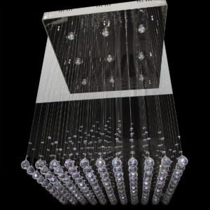 1 Box Pyramid 800mm String Chandelier - CRP1016