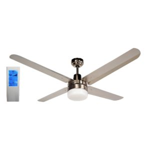 BLIZZARD48'' 1200mm 316SS Ceiling Fan with Light + Touch Pad WH Remote - BLIZZARD48''wl - TWHRem
