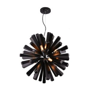 Burst 550 Black Pendant Light - P1119BUR55BLK