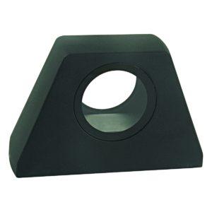 Kura Round LED Integrated External Light Black