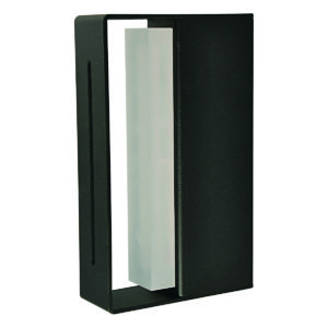Linear LED Integrated External Light in Black
