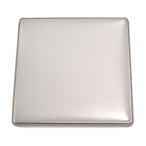 Square 18W LED Ceiling Light - Silver Frame in Warm White - LEDOYS18WSQRSILWW