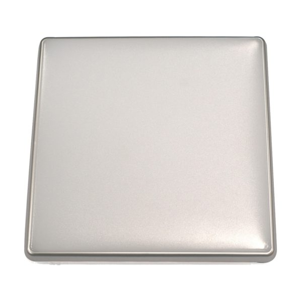 Square 18W LED Ceiling Light - Silver Frame in Warm White - LEDOYS18WSQRSILWW