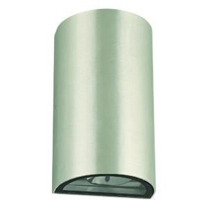 Zimbo Round LED Integrated External Light Brushed Chrome