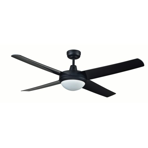 Genesis 52'' Black Ceiling Fan with ABS Blades With Light - GEN52BLKL2