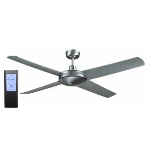 Genesis 52'' Brushed Aluminum Ceiling Fan with ABS Blades + BL Touch Pad Remote - GEN52B2 - TBLRem