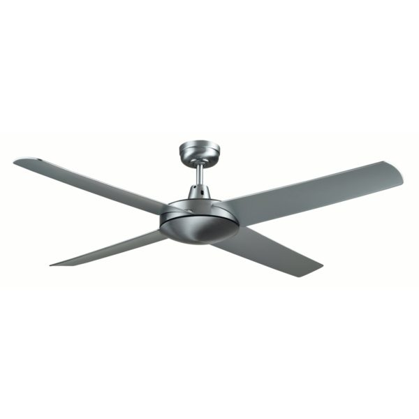 Genesis 52'' Brushed Aluminum Ceiling Fan with ABS Blades - GEN52B2