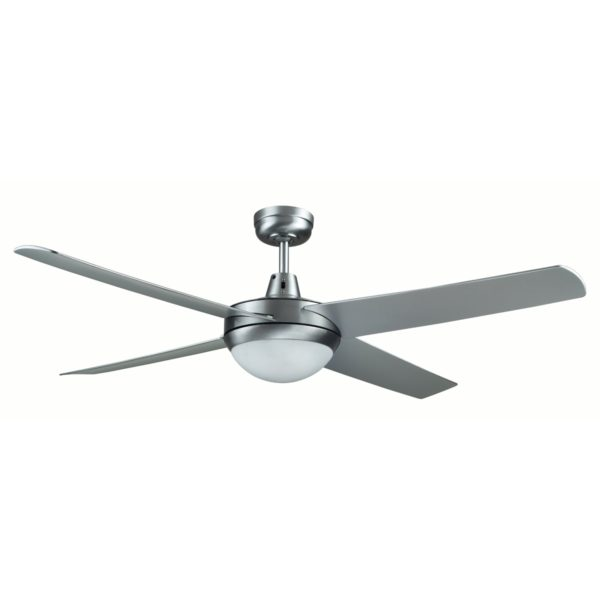 Genesis 52'' Brushed Aluminum Ceiling Fan with ABS Blades with Light - GEN52BL2