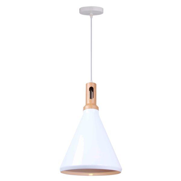 Cone 1 Light Pendant Light in White