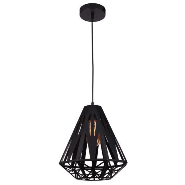 Inaya 1 Light Pendant Light in Black