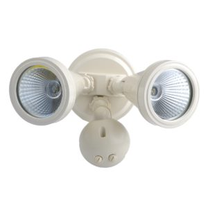 LED Double Beige Exterior Spot Sensor Light - LEDSPTDWSBGE
