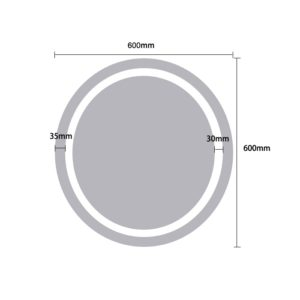 LED Round Large Mirror Light - Dimensions 60cm - MIR1002