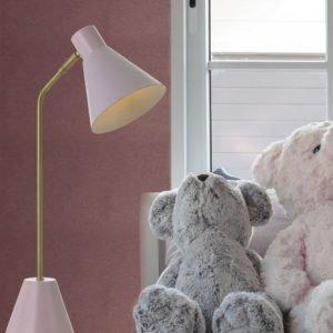 Ambia Desk Lamp Pink and Matt Brass