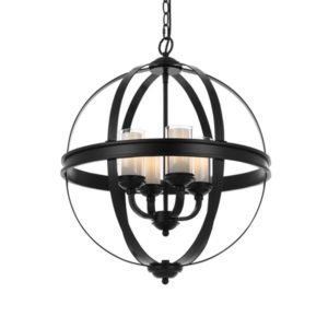 Bodum 4 Light Pendant in Matt Black