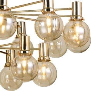 Escoda 18 Light Pendant in Matt Gold