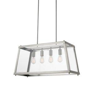 Gilbert 4 Light Pendant Light in Nickel