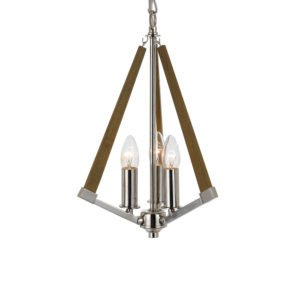 Graf 300mm 3 Light Pendant in Chrome and Ash