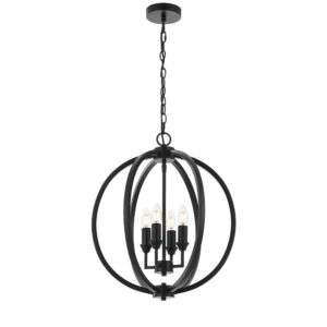 Kendall 4 Light Pendant in Matt Black