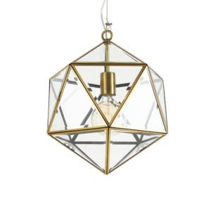 Lazlo 300mm 1 Light Pendant in Antique Brass