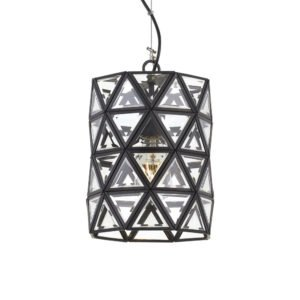 Lewis 200mm 1 Light Pendant in Black