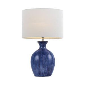 Selma Blue and White Table Lamp