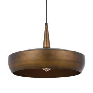 Sabra 430mm 1 Light Pendant Light in Antique Copper and Copper