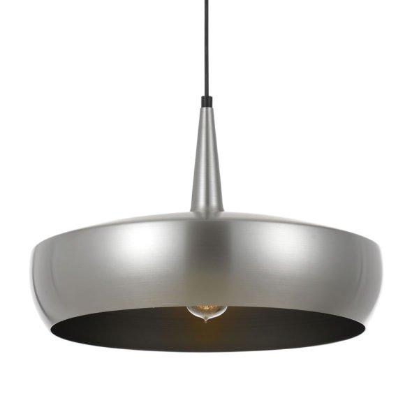 Sabra 430mm 1 Light Pendant Light in Nickel and Silver
