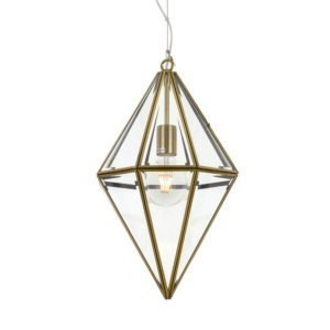 Silva 300mm 1 Light Pendant in Antique Brass