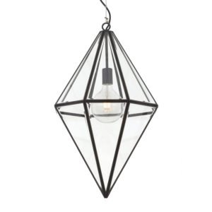 Silva 400mm 1 Light Pendant in Black