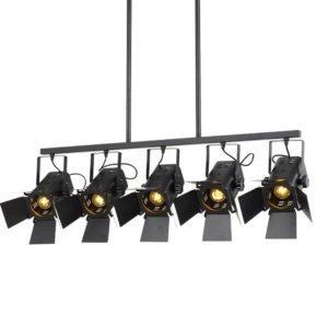 Studio 6 Light Bar Pendant in Antique Black