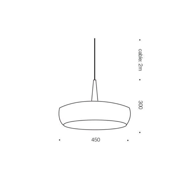Sabra 430mm 1 Light Pendant Light