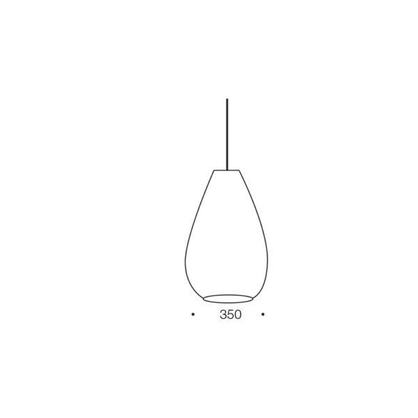 Simon 350mm 1 Light Pendant