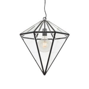 Talia 350mm 1 Light Pendant in Black