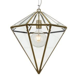 Talia 450mm 1 Light Pendant in Antique Brass