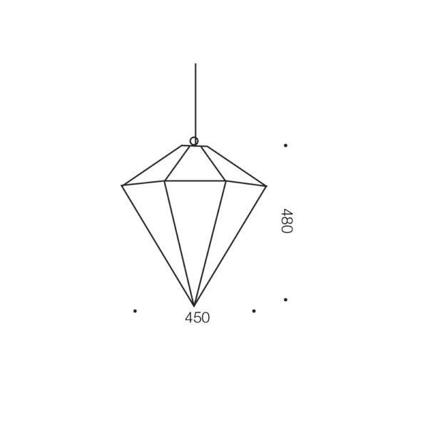 Talia 450mm 1 Light Pendant