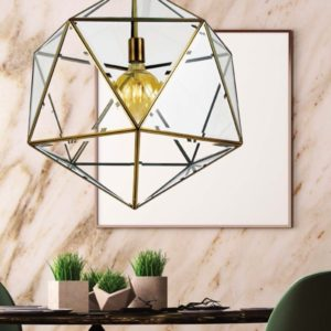 Lazlo 1 Light Pendant in Antique Brass