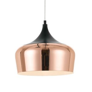 Polk 300mm 1 Light Pendant in Black and Copper