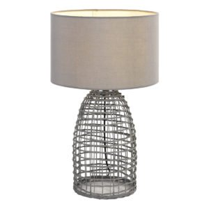 Bayz 400mm Table Lamp in Grey