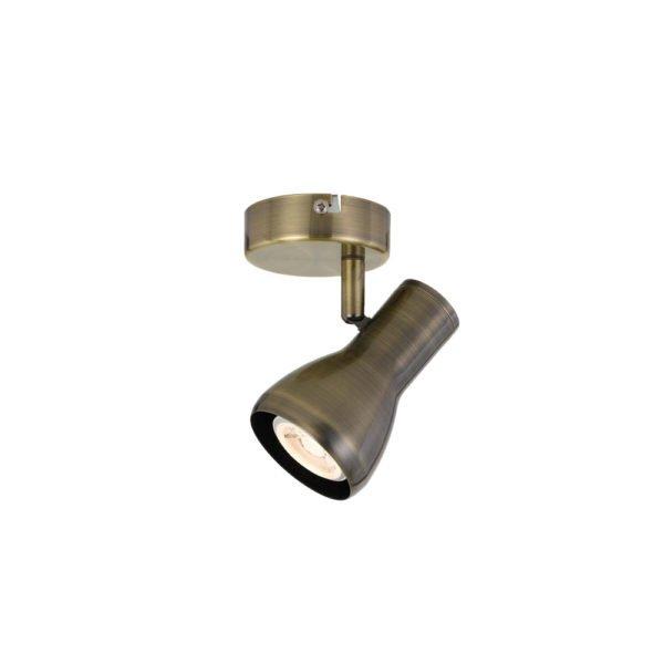 Curtis GU10 1 Light Spot Light in Antique Brass