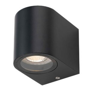 Eos IP54 GU10 Exterior Wall Light in Black
