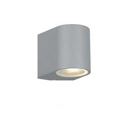 Eos IP54 GU10 Exterior Wall Light in Silver