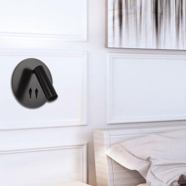 Esra 2 Switch 4 Watt LED Wall Light in Black
